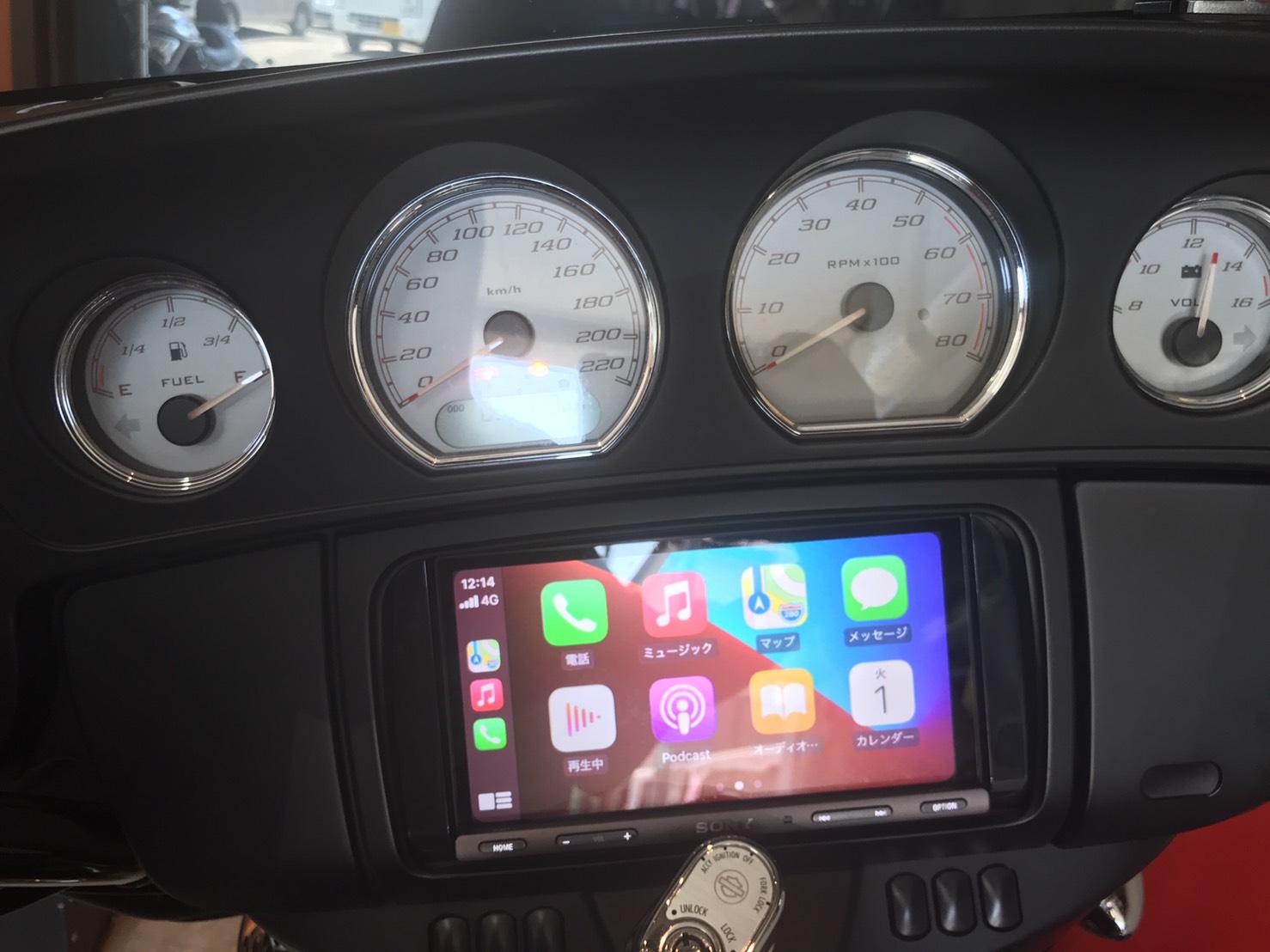 SONY XAV-AX5000 iPhone タッチパネル